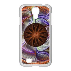 Background Image With Hidden Fractal Flower Samsung Galaxy S4 I9500/ I9505 Case (white) by Simbadda