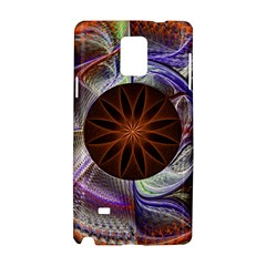 Background Image With Hidden Fractal Flower Samsung Galaxy Note 4 Hardshell Case by Simbadda