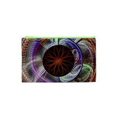 Background Image With Hidden Fractal Flower Cosmetic Bag (xs) by Simbadda