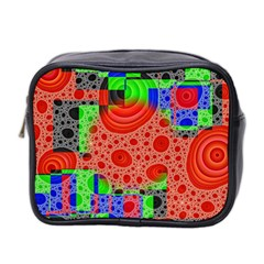 Background With Fractal Digital Cubist Drawing Mini Toiletries Bag 2 Side by Simbadda