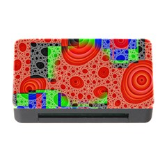 Background With Fractal Digital Cubist Drawing Memory Card Reader With Cf by Simbadda