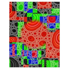 Background With Fractal Digital Cubist Drawing Drawstring Bag (large) by Simbadda