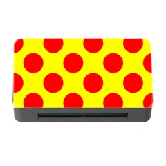 Polka Dot Red Yellow Memory Card Reader With Cf by Mariart