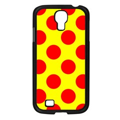Polka Dot Red Yellow Samsung Galaxy S4 I9500/ I9505 Case (black) by Mariart