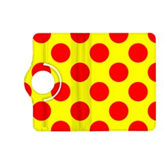 Polka Dot Red Yellow Kindle Fire Hd (2013) Flip 360 Case by Mariart
