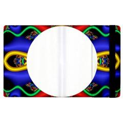 Symmetric Fractal Snake Frame Apple Ipad 2 Flip Case by Simbadda