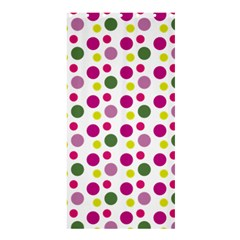 Polka Dot Purple Green Yellow Shower Curtain 36  X 72  (stall)  by Mariart