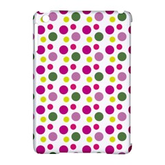 Polka Dot Purple Green Yellow Apple Ipad Mini Hardshell Case (compatible With Smart Cover) by Mariart