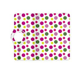 Polka Dot Purple Green Yellow Kindle Fire Hdx 8 9  Flip 360 Case by Mariart