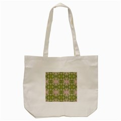 Digital Computer Graphic Seamless Wallpaper Tote Bag (cream) by Simbadda