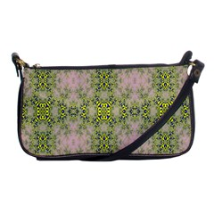 Digital Computer Graphic Seamless Wallpaper Shoulder Clutch Bags by Simbadda
