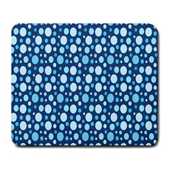 Polka Dot Blue Large Mousepads by Mariart