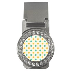 Polka Dot Yellow Green Blue Money Clips (cz)  by Mariart
