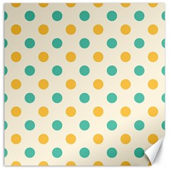 Polka Dot Yellow Green Blue Canvas 16  X 16   by Mariart