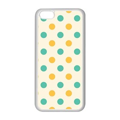 Polka Dot Yellow Green Blue Apple Iphone 5c Seamless Case (white) by Mariart