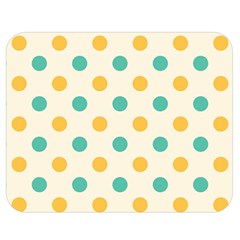 Polka Dot Yellow Green Blue Double Sided Flano Blanket (medium)  by Mariart