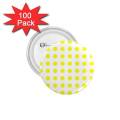 Polka Dot Yellow White 1 75  Buttons (100 Pack)  by Mariart