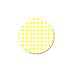 Polka Dot Yellow White Golf Ball Marker (4 Pack) by Mariart