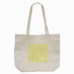 Polka Dot Yellow White Tote Bag (cream) by Mariart