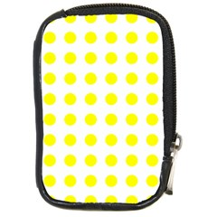 Polka Dot Yellow White Compact Camera Cases by Mariart