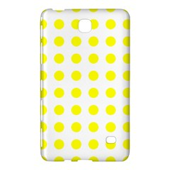Polka Dot Yellow White Samsung Galaxy Tab 4 (8 ) Hardshell Case  by Mariart