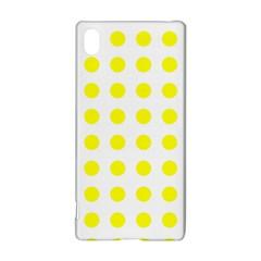 Polka Dot Yellow White Sony Xperia Z3+ by Mariart