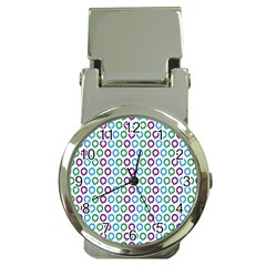 Polka Dot Like Circle Purple Blue Green Money Clip Watches by Mariart