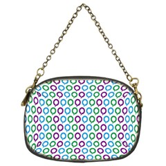 Polka Dot Like Circle Purple Blue Green Chain Purses (two Sides)  by Mariart