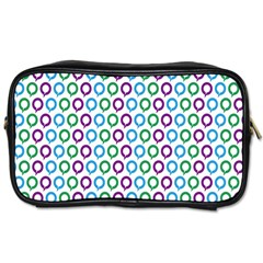 Polka Dot Like Circle Purple Blue Green Toiletries Bags 2 Side by Mariart