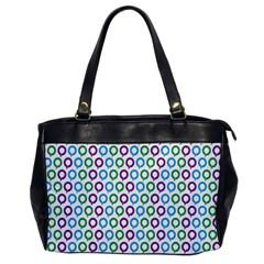 Polka Dot Like Circle Purple Blue Green Office Handbags by Mariart