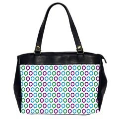 Polka Dot Like Circle Purple Blue Green Office Handbags (2 Sides)  by Mariart