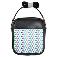 Polka Dot Like Circle Purple Blue Green Girls Sling Bags by Mariart