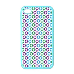 Polka Dot Like Circle Purple Blue Green Apple Iphone 4 Case (color) by Mariart