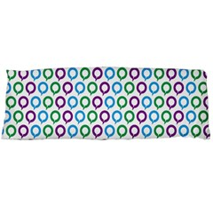 Polka Dot Like Circle Purple Blue Green Body Pillow Case Dakimakura (two Sides) by Mariart