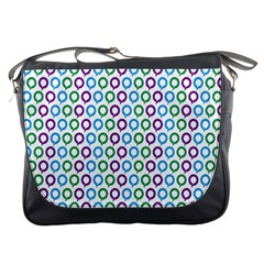 Polka Dot Like Circle Purple Blue Green Messenger Bags by Mariart