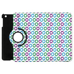 Polka Dot Like Circle Purple Blue Green Apple Ipad Mini Flip 360 Case by Mariart