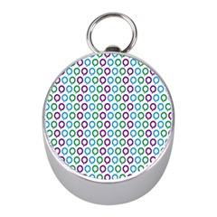 Polka Dot Like Circle Purple Blue Green Mini Silver Compasses by Mariart