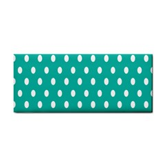 Polka Dots White Blue Cosmetic Storage Cases by Mariart