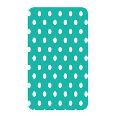 Polka Dots White Blue Memory Card Reader by Mariart
