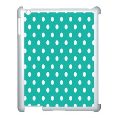 Polka Dots White Blue Apple Ipad 3/4 Case (white) by Mariart