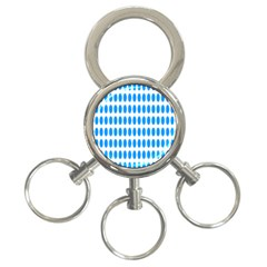 Polka Dots Blue White 3 Ring Key Chains by Mariart