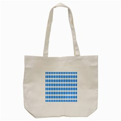 Polka Dots Blue White Tote Bag (cream) by Mariart