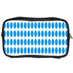 Polka Dots Blue White Toiletries Bags by Mariart