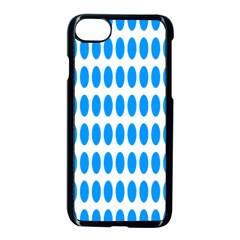 Polka Dots Blue White Apple Iphone 7 Seamless Case (black) by Mariart