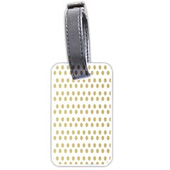 Polka Dots Gold Grey Luggage Tags (two Sides) by Mariart