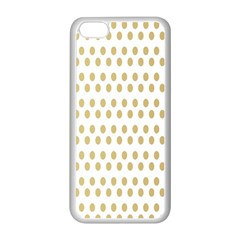 Polka Dots Gold Grey Apple Iphone 5c Seamless Case (white) by Mariart