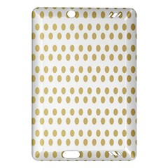 Polka Dots Gold Grey Amazon Kindle Fire Hd (2013) Hardshell Case by Mariart
