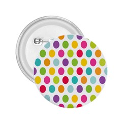 Polka Dot Yellow Green Blue Pink Purple Red Rainbow Color 2 25  Buttons by Mariart