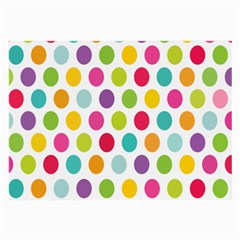 Polka Dot Yellow Green Blue Pink Purple Red Rainbow Color Large Glasses Cloth by Mariart