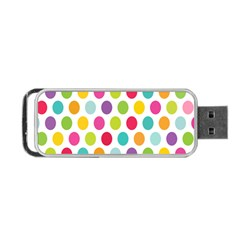 Polka Dot Yellow Green Blue Pink Purple Red Rainbow Color Portable Usb Flash (one Side) by Mariart